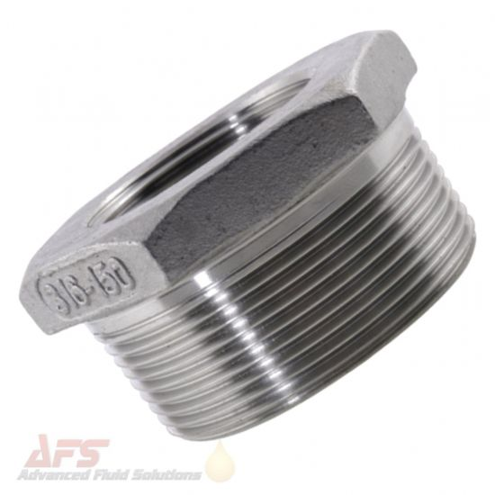 316 SS Stainless Steel Reducing Bush BSPT Male x BSP Female Threads